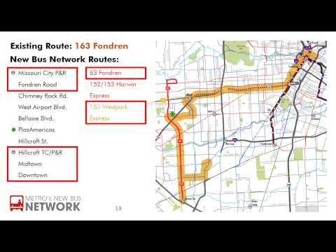 New Bus Network Route - 163 Fondren - YouTube