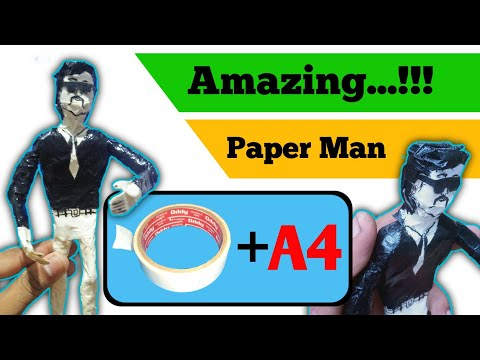 How to craft a 𝗠𝗔𝗡 with paper | diy-paper craft | Ji4 Tech
