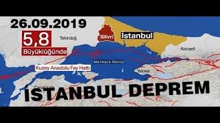 İSTANBUL 5.8 BÜYÜKLÜĞÜNDE DEPREMLE SALLANDI (26.09.2019 PERŞEMBE)