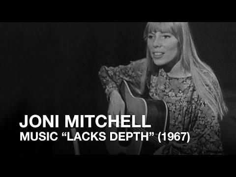 Joni Mitchell told music 'lacks depth' (1967)