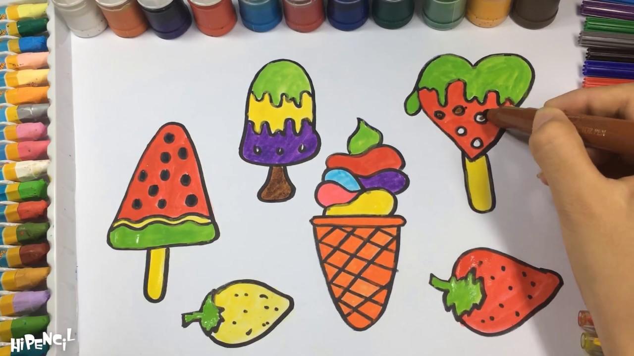Como Dibujar Y Colorear Helados: Cómo Dibujar Helado Para Niños, Cómo Dibujar, Para
