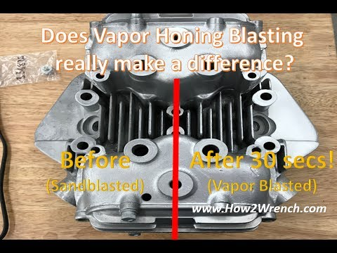 Does the Vapor Honing Blaster really make a difference compared to sandblasting?