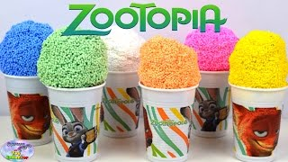 Zootopia Surprise Cups Floam Play Foam Nick Wilde Judy Hopps MLP Surprise Egg and Toy Collector SETC