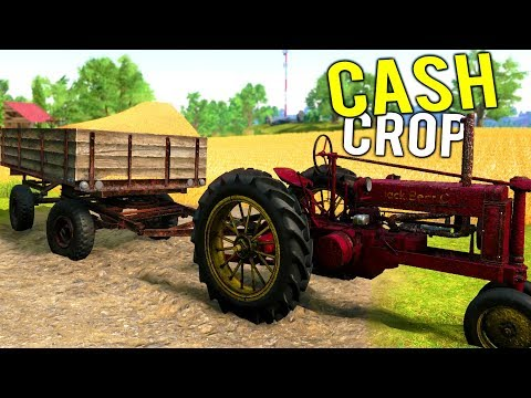 OUR FIRST SUCCESSFUL CASH CROP SALE! Making Money Harvesting Crops - Farmer's Dynasty Gameplay