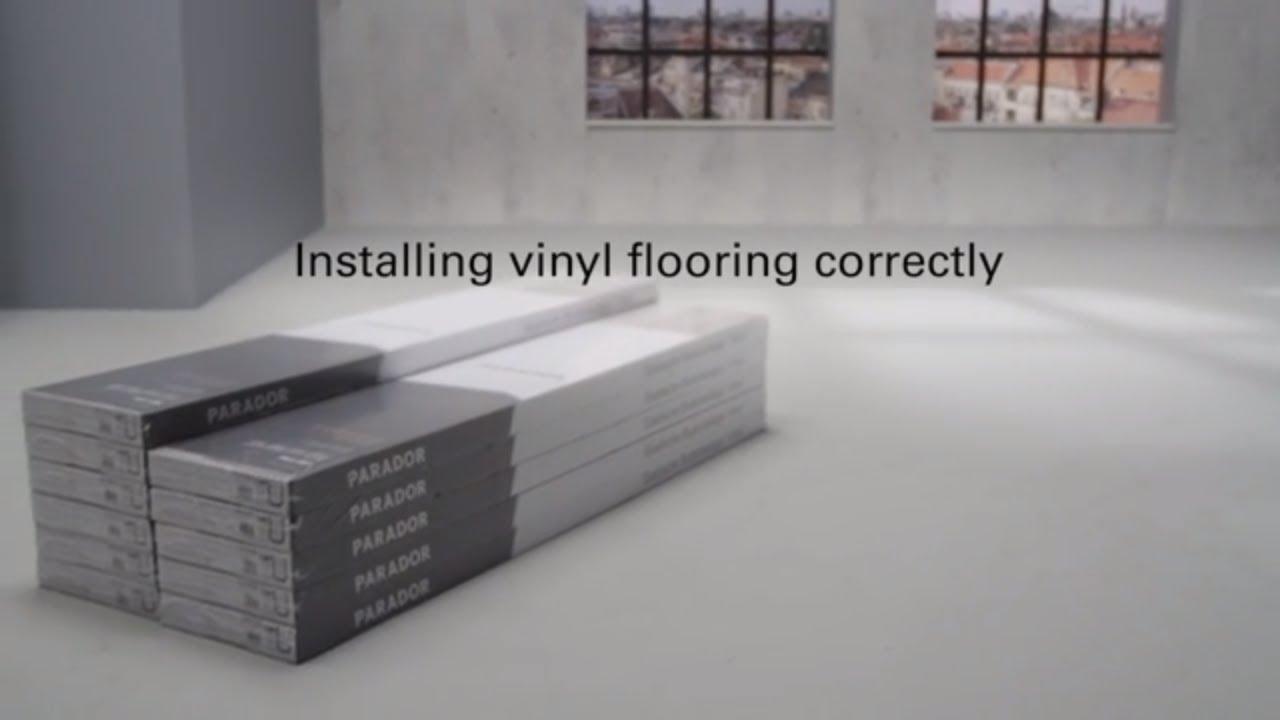 How To Install Parador Solid Vinyl Flooring