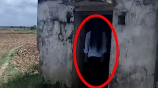real ghost caught on camera in my village   scary ghost devil horror