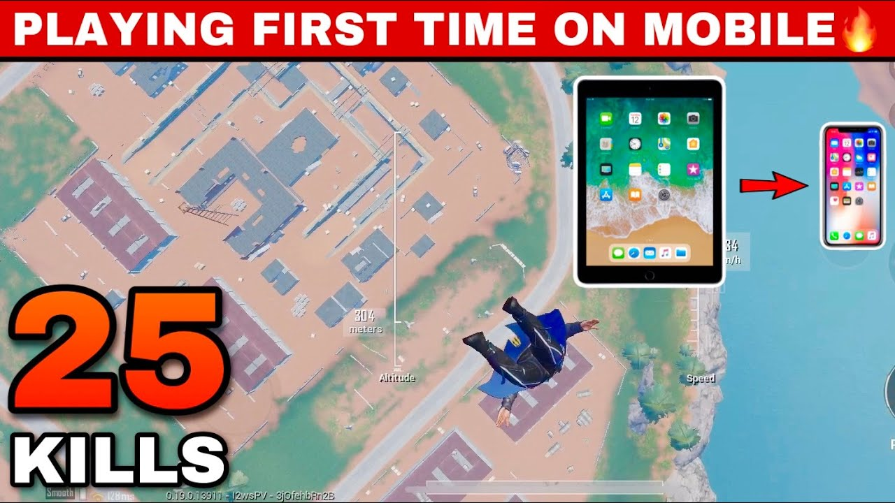 Playing First Time On Mobile👍 | IPad To IPhone🔥 Pubg Mobile | Skeleton Gaming