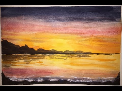 Watercolour Seascapes and Landscape for Cards