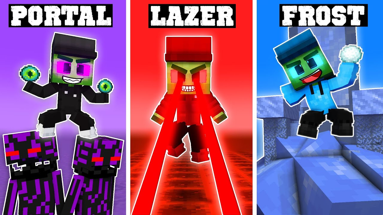 3 NEW ZOMBIE BROTHERS (Super Powers)! - Funny Minecraft Animation
