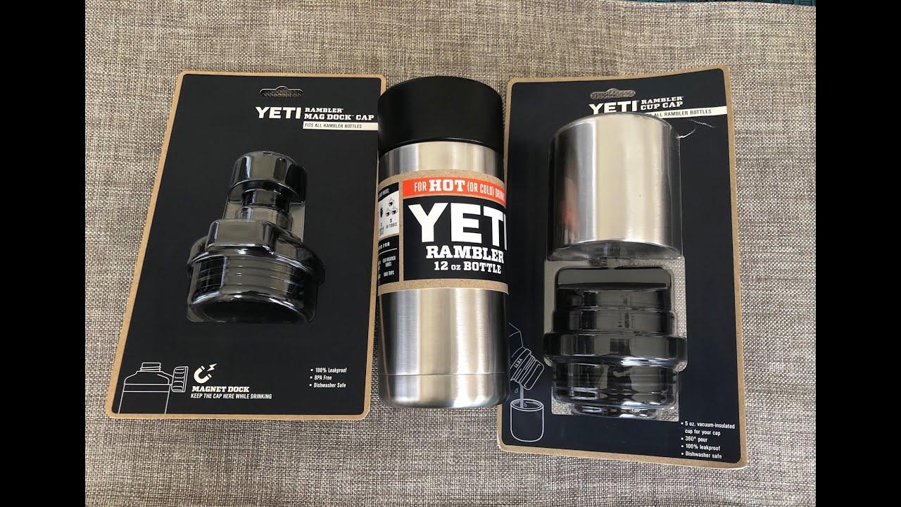 a3be273d5a0 New Yeti Products 2019: Mag Dock Cap, Rambler 12 oz W/ Hotshot Cap & Cup Cap