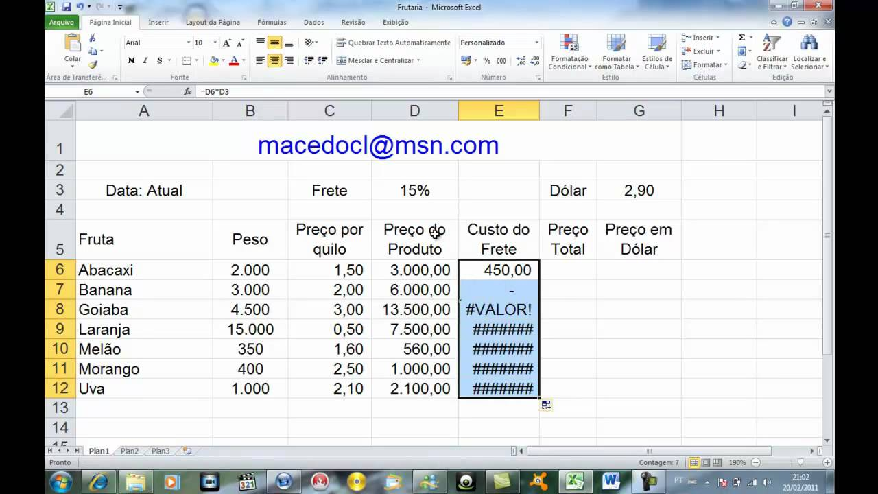 Efetuar C 225 Lculos Com Porcentagem No Excel Mp4 Youtube