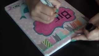 DIY Regreso a Clases (Parte N3)  Cuadernos Decorados con cinta y papel. Thumbnail