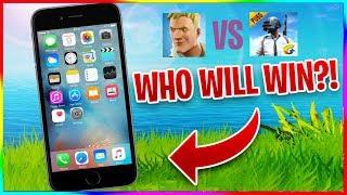 FORTNITE ON iPhone 6 vs PUBG ON iPhone 6!