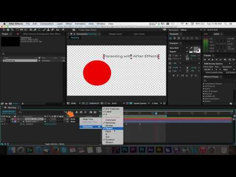 Tutorial: Parenting with Adobe After Effects CC 2014