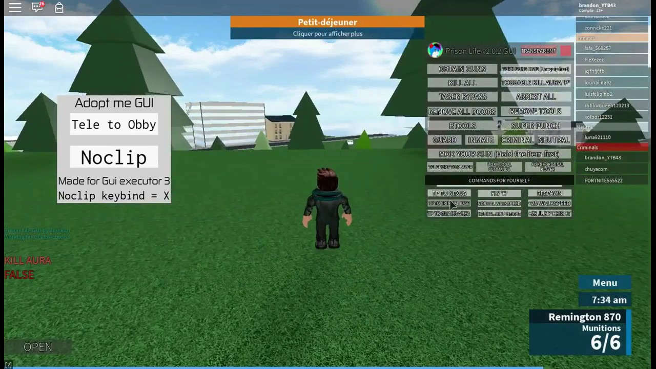 Mod Menu Prison Life Roblox Youtube