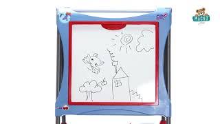 Tanuló rajztábla játékhoz mágneses Smoby kétoldala