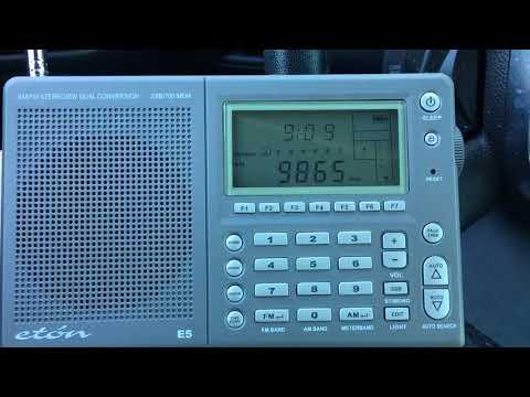 Eton E5: 9865 Air New Delhi listening from San Jose, California