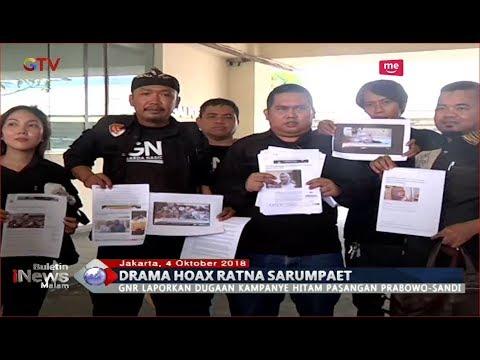 Kebohongan Ratna Sarumpaet Terbongkar, GNR Laporkan Dugaan Kampanye Hitam Prabowo-Sandi - BIM 04/10