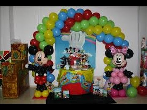Decoracion con globos para fiestas infantiles youtube for Decoracion con globos