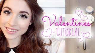 Valentine's Day Tutorial: Bright & Sparkly Look!!