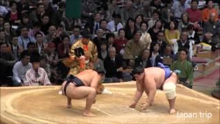 2015九州場所2日目、鶴竜 vs 碧山。初日黒星の鶴竜は、下手投げで碧山か...
