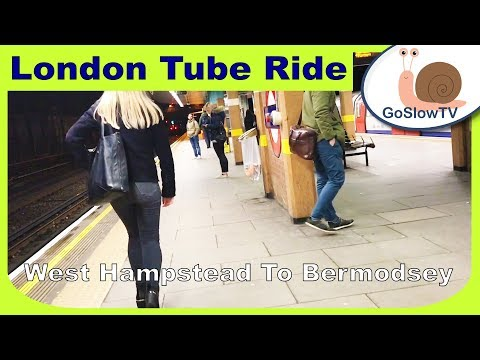 London Underground Tube Ride | West Hampstead To Bermondsey | Jubilee Line | Slow TV | Episode 63