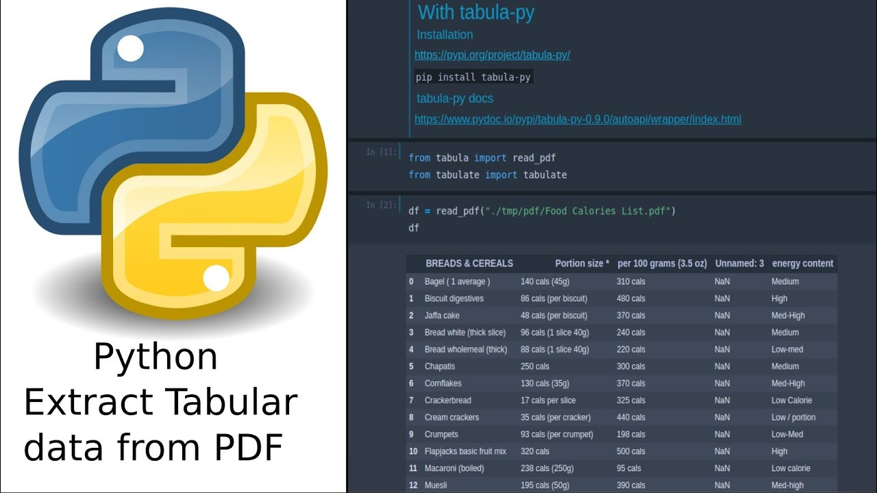 Extract tabular data from PDF with Python - Tabula, Camelot, PyPDF2