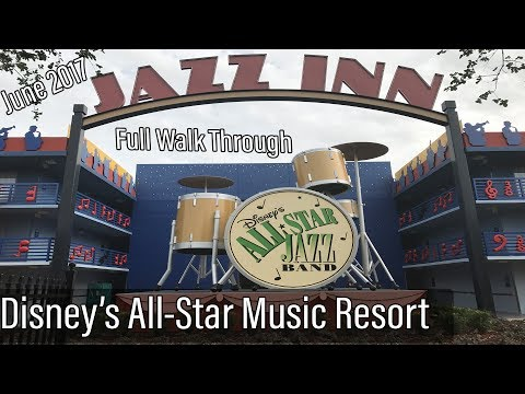 Disney's All-Star Music Resort FULL Walk Through June 2017
