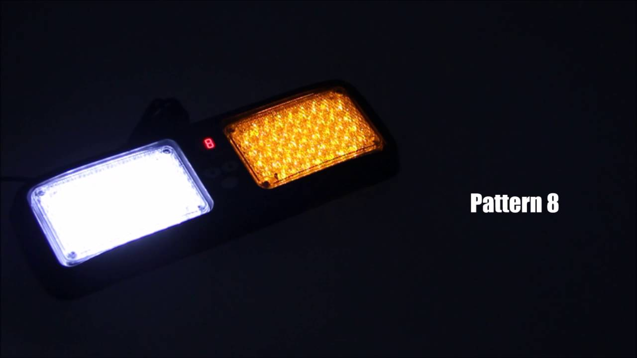 Xprite White Blue 86 LED SunShield Sun Visor Emergency Strobe Lights 12 Flash Modes Hazard Warning Light for Law Enforcement Vehicle