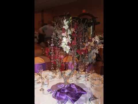 Purple Gold Wedding Decor Calgary Youtube