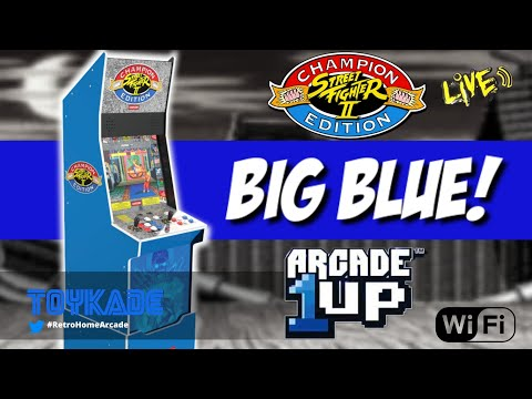 Arcade1up Street Fighter BIG BLUE Revealed! Wifi enabled and more? from ToyKade