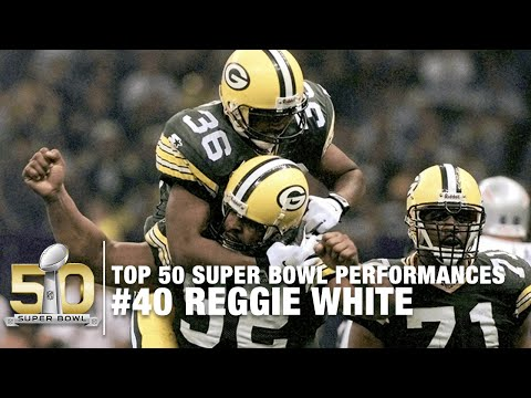 #40: Reggie White Super Bowl XXXI Highlights | Top 50 Super Bowl Performances