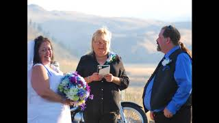 Ron and Mindy Champagne Our Wedding 8 26 17 Biker Bride and Rock n Roll Groom