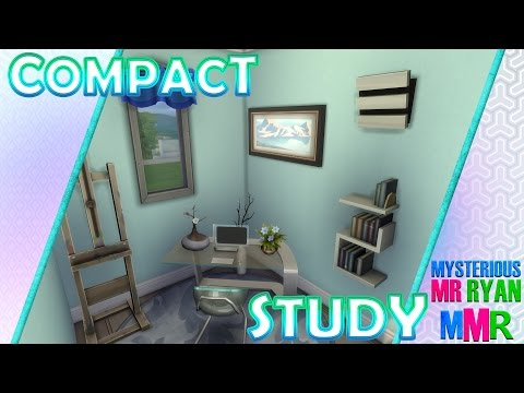MMR | The Sims 4 Room Build | Compact Study