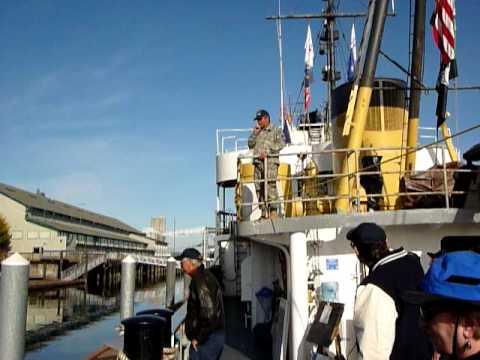 piping aboard Comanche