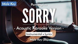 Sorry (Male Karaoke) - Pamungkas (HQ Acoustic Guitar)