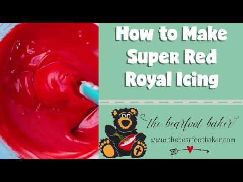 How to make dark red icing with food coloring