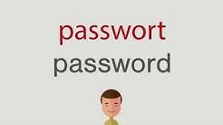 Wie heißt passwort auf englisch