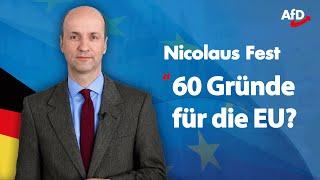 ❝60 Gründe für die EU?❞ | Nicolaus Fest