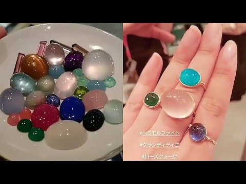 hot-diamand-&-cabochon-stones-rings-compilation-for-girls