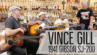 Vince Gill playing our 1941 Gibson SJ-200 Rosewood | On The Couch at Norman's Rare Guitars