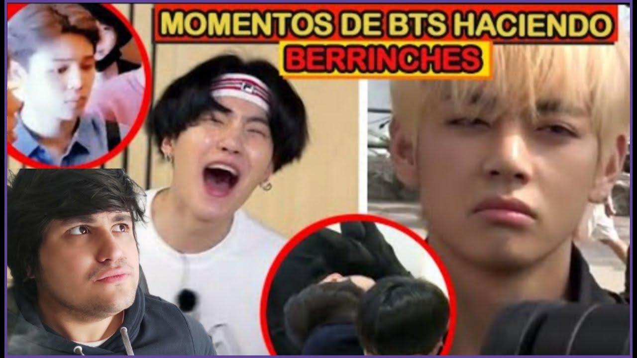 BTS HACIENDO BERRINCHES (REACCION)