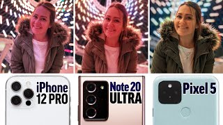 Unbiased iPhone 12 Pro vs Note 20 vs Pixel 5 Camera Test