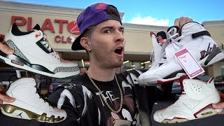 6 PAIRS OF JORDANS COP'T IN THE THRIFT SHOP! $200 ADIDAS GRAIL! Trip to the Thrift #197
