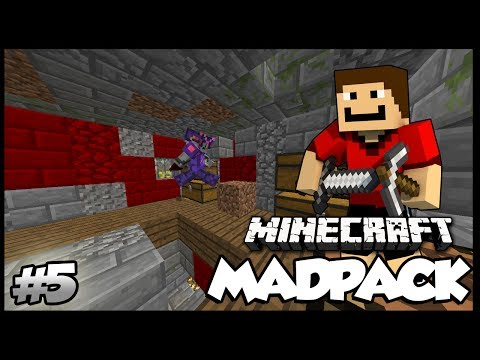 Minecraft: MadPack Modded Survival - E5 - Moving!