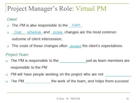 Lecture 2a The Project Manager The Organization And The Team