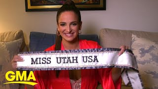 We got ready for Fashion Week with Miss USA's 1st openly bisexual contestant l GMA Digital