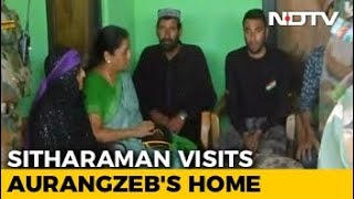 Nirmala Sitharaman Meets Killed Soldier Aurangzeb's Family In Jammu And Kashmir