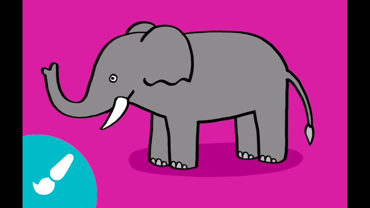 Cómo Dibujar Un Elefante I How To Draw An Elephant