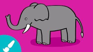 Cómo dibujar un elefante I How to draw an elephant
